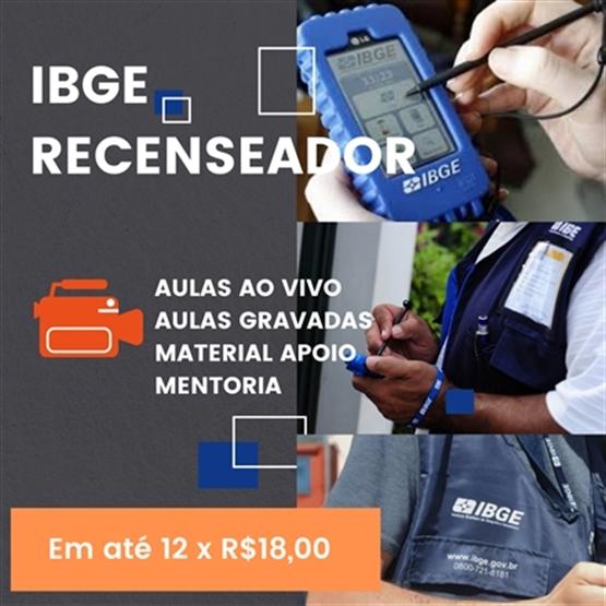 """IBGE RECENSEADOR """"3 CÓDIGOS DA APROVAÇÃO"""""""